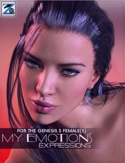 Z My Emotions- Morph Dial Expressions for the Genesis 3 Female(s)