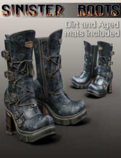 Slide3D Sinister Boots for Genesis 3 Female(s)