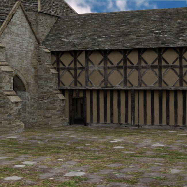 Fortified Manor for DAZ Studio