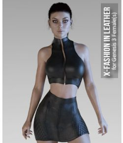 X-Fashion in Leather for Genesis 3 Females