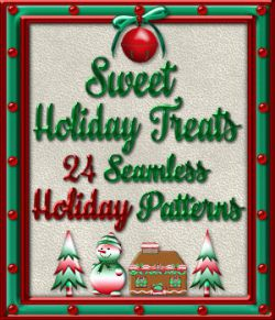 Sweet Holiday Treats Seamless Patterns