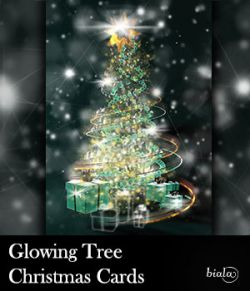 Glowing Tree Christmas Cards