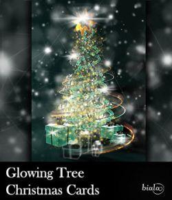 Glowing Tree Christmas Cards