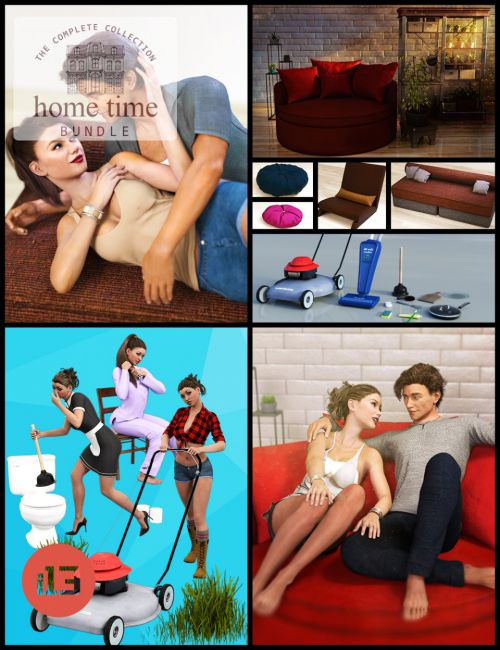 i13 Home Time Poses and Props Bundle
