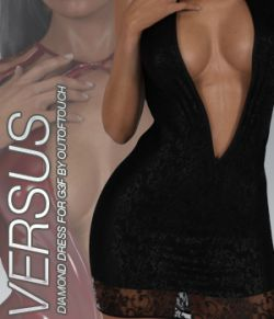 VERSUS- Fashion Blizz: Diamond Dress for Genesis 3 Female(s)