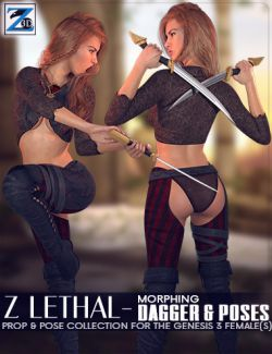 Z Lethal- Dagger & Poses for the Genesis 3 Female(s)