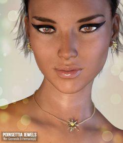Poinsettia Jewels for Genesis 3 Females