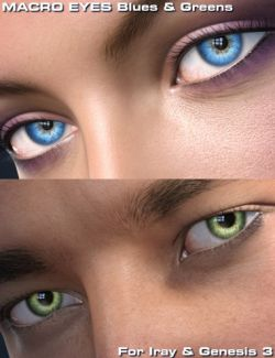 Macro Eyes for Iray Blues and Greens