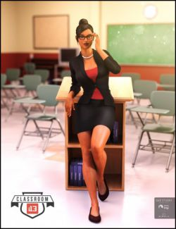 i13 Classroom Teacher Outfit for the Genesis 3 Female(s)
