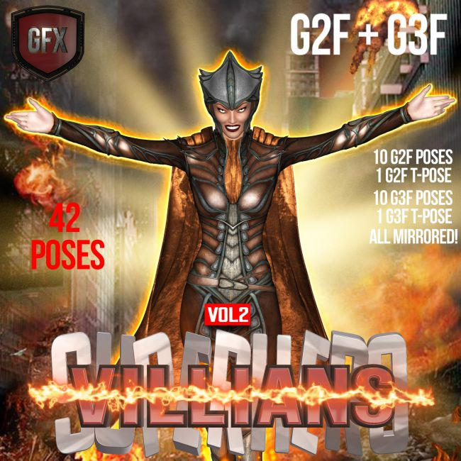 SuperHero Villians for G2F &G3F Volume 2