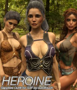 HEROINE- Sapphire Outfit for Genesis 3 Female(s)