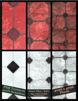 Floor Tiles Vol 1 - PBR Textures