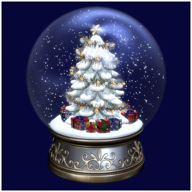Christmas Snow Globe Props For Poser And Daz Studio