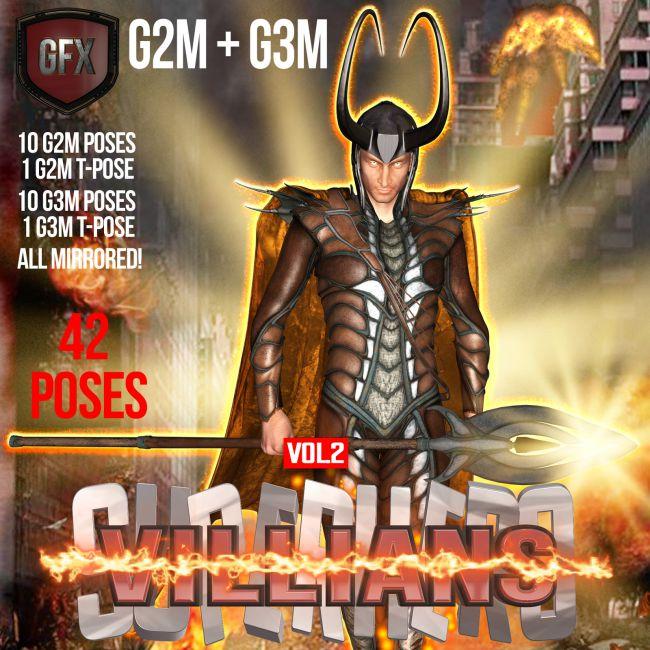 SuperHero Villians for G2M & G3M Volume 2