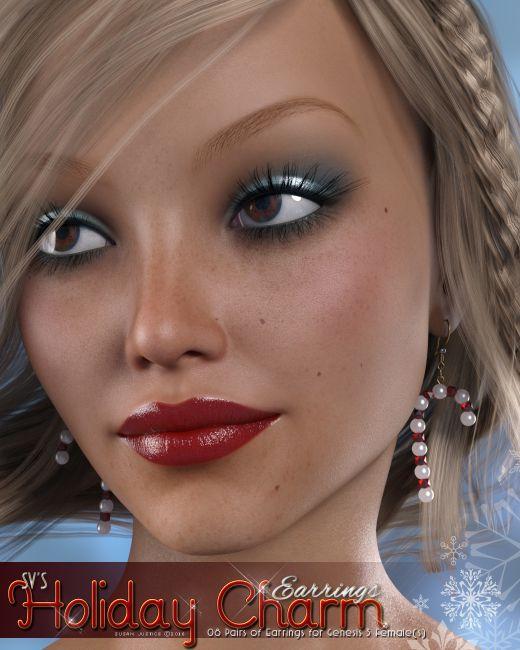 Holiday Charm Earrings Genesis 3 Females