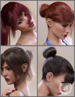 Topmodel Updo Hair and OOT Hairblending 2.0 for Genesis 3 Female(s)