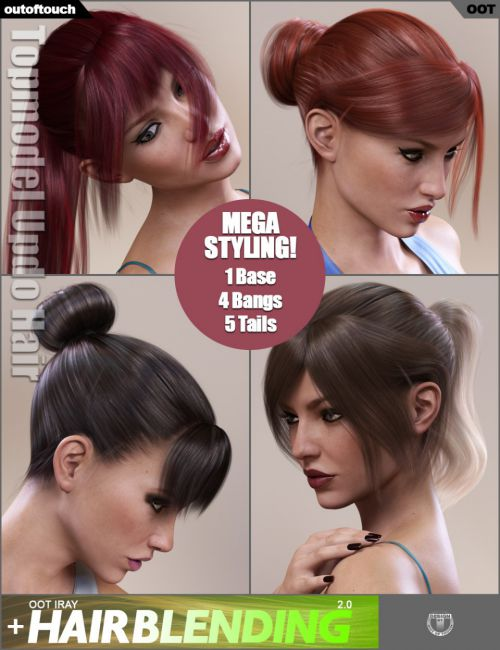 Topmodel Updo Hair and OOT Hairblending 2.0 for Genesis 3 Female(s)