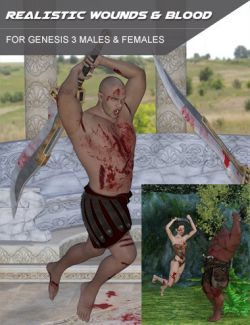 Realistic Wounds and Blood for Genesis 3 Male(s) and Female(s)