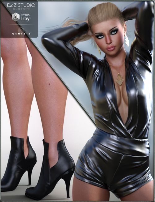 Rockin Romper Outfit for Genesis 3 Female(s)