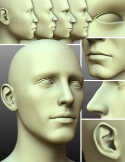 200 Plus - Head & Face Morphs for Genesis 3 Male(s)