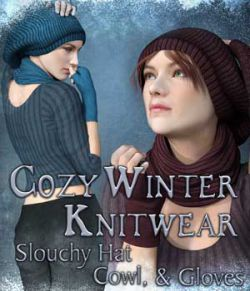 Cozy Winter Knitwear for Genesis 3 Female