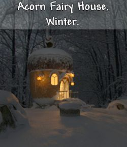 AJ Acorn Fairy House. Winter.
