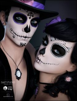 Sugar Skulls Bundle - Characters, Accessories and Poses