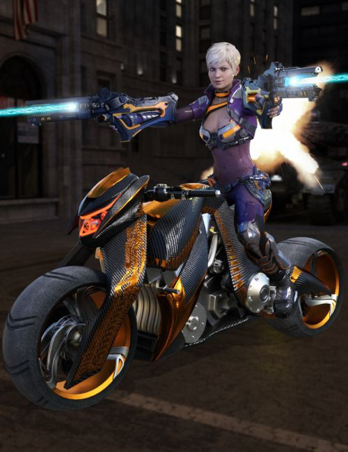 Galactic Racer Suit for Genesis 3 Female(s)