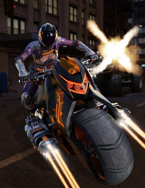 Galactic Racer Motorcycle