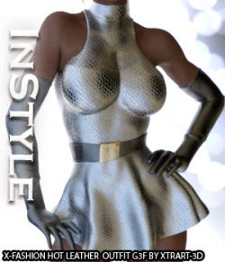 InStyle- X-Fashion Hot Leather Outfit for Genesis 3 Females