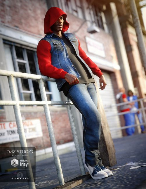 Hoodie Outfit for Genesis 3 Male(s)