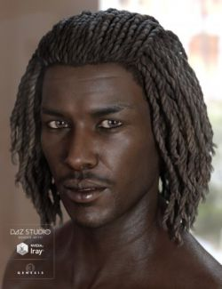 Diesel Hair for Genesis 3 Male(s) & Female(s)