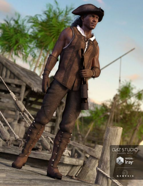 Ship Captain Outfit for Genesis 3 Male(s)