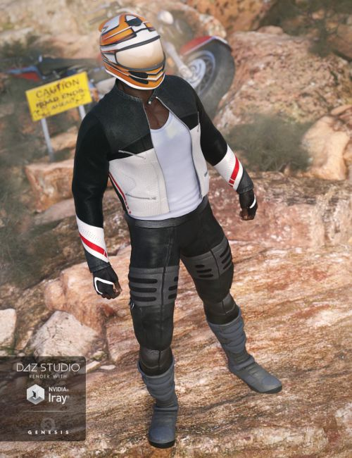 Moto Racer Outfit for Genesis 3 Male(s)