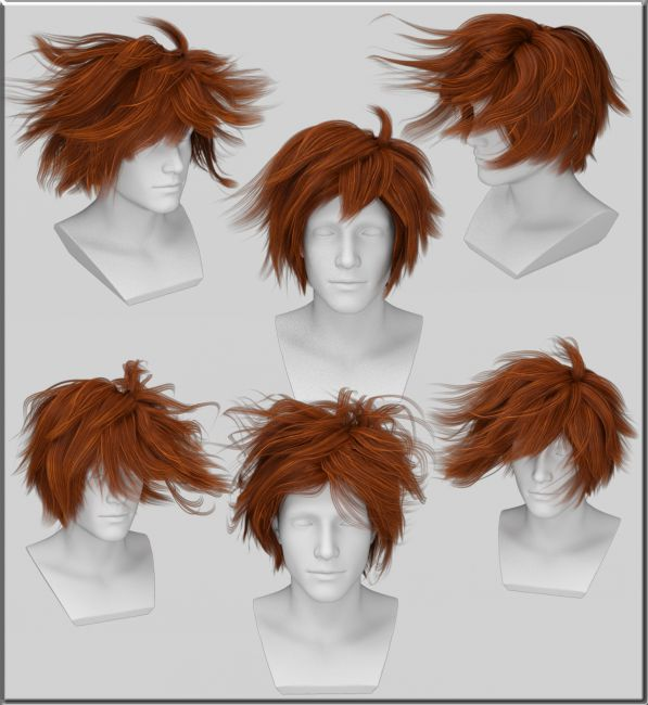 Fabulous Fantasy Anime Haircut 3 Ayumu Hair For G3M Hair For Poser And Hairstyles For Men Maxibearus