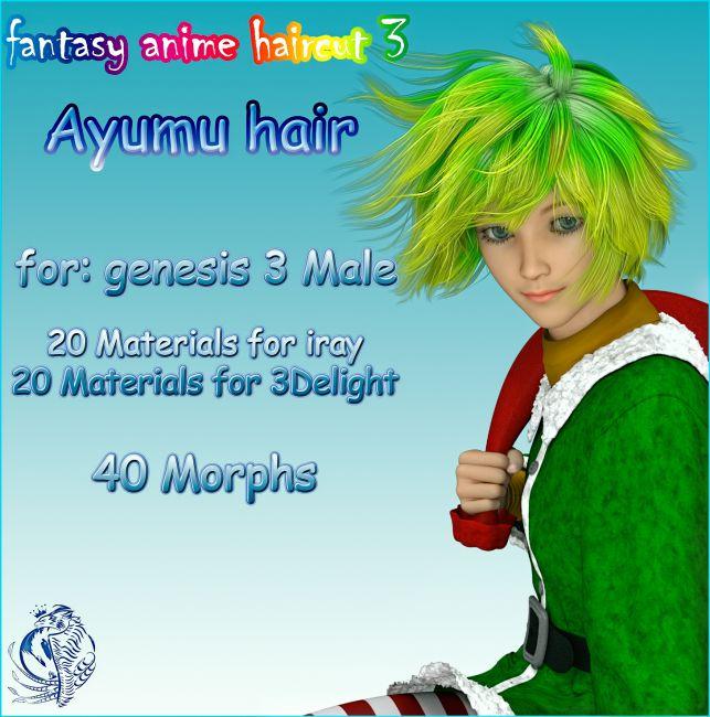 fantasy anime haircut 3 _Ayumu hair_ for G3M