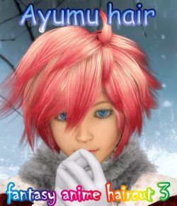 fantasy anime haircut 3_Ayumu hair_ for G3M