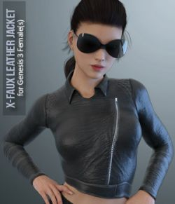 X-Faux Leather Jacket for Genesis 3 Female(s)