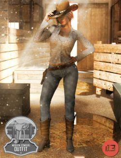 i13 Modern Cowgirl Outfit for the Genesis 3 Female(s)