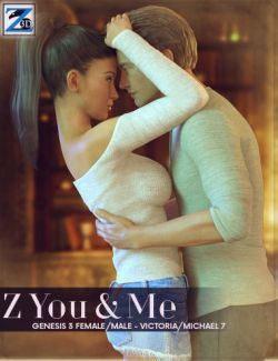 Z You & Me- Pose Collection for Genesis 3 Male & Female / Michael 7 & Victoria 7