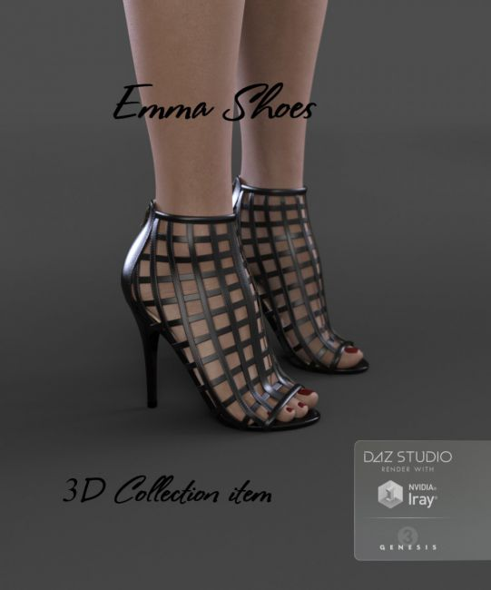 Emma Shoes for Genesis 3 Female(s)
