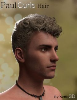 Paul Curls Hairstyle for Genesis 3 Male(s)