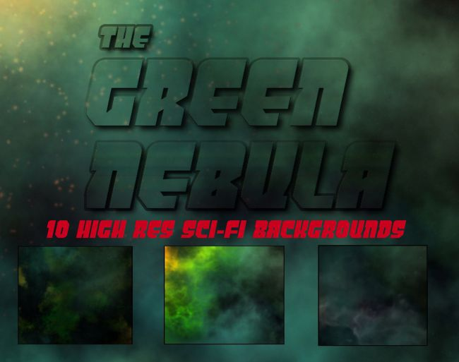 GREEN NEBULA BACKGROUNDS