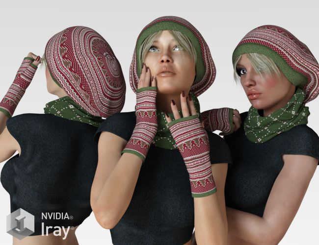 VERSUS - Cozy Winter Knitwear for Genesis 3 Female