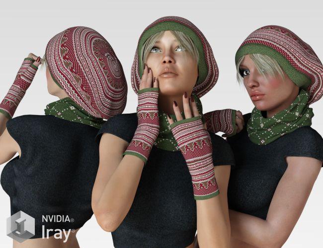 VERSUS - Cozy Winter Knitwear for Genesis 3 Female