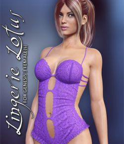 Lingerie Lotus for Genesis 3 Females
