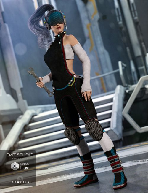 Sci-fi Saboteur Outfit for Genesis 3 Female(s)