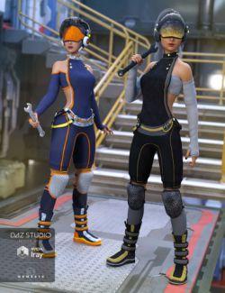 Sci-fi Saboteur Outfit Textures