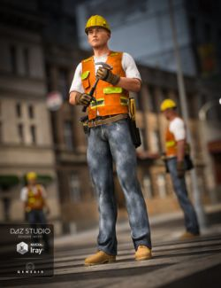 Construction Worker Outfit for Genesis 2 and Genesis 3 Male(s)