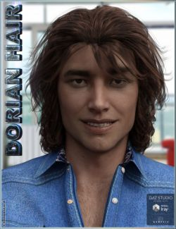 Dorian Hair for Genesis 3 Male(s)